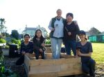 9. team work leads to finished planter box!